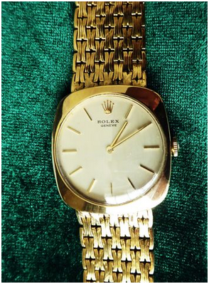 ROLEX - Men's wristwatch, yellow gold, shock proof, 1960s Estimate: 12 500-16 500 EUR Auction ends: August 14