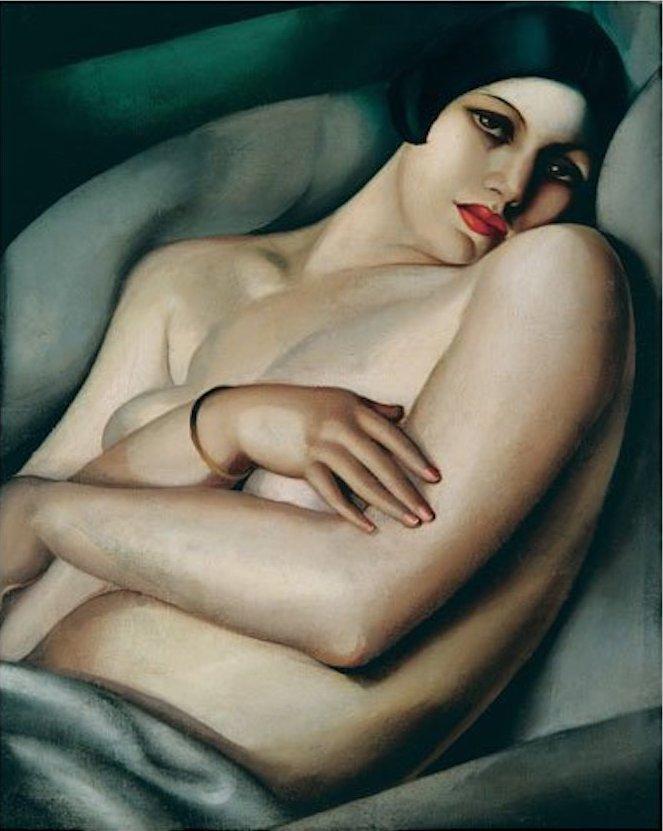 Tamara de Lempicka, Le rêve (Rafaëla sur fond vert), 1927   Abb.: ©Sotheby's