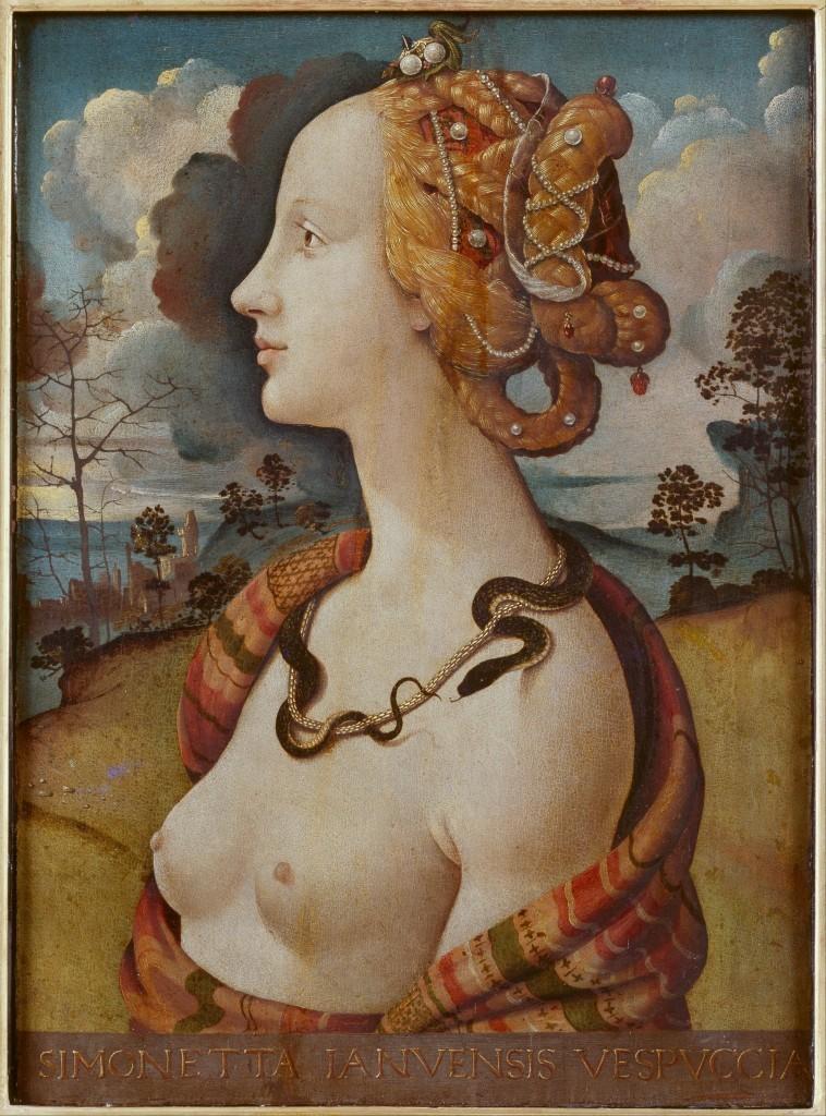 PIERO DI COSIMO (1462-1521) - Simonetta Vespucci Image via Wikipedia