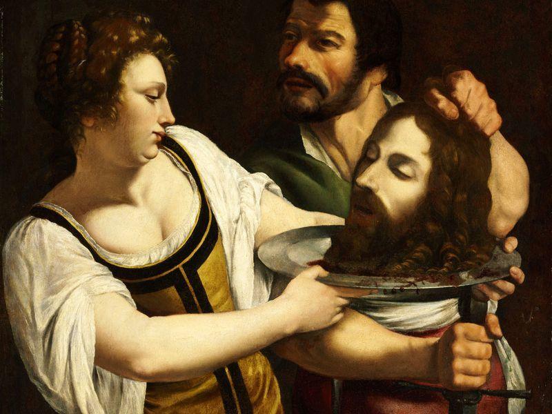 Artemisia Gentileschi, «Salomé à la tête de Saint Jean-Baptiste », vers 1610-1615, Wikimedia Commons