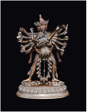 Stor bronsskulptur av Cakravamsara, Tibet Qianlongperioden (1736-1795). Utrop: 278 000 SEK Cambi