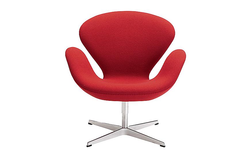 Swan Chair (Chaise Cygne) pour le SAS Royal Copenhagen, image via Design Within Reach