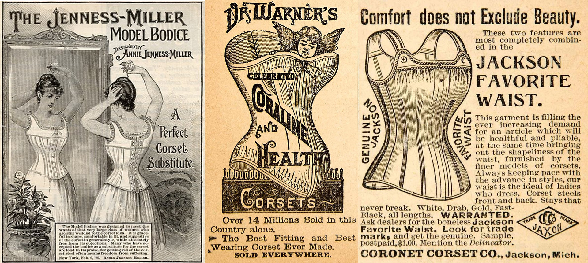 Unknown artist, Corset Advertisement, c. 1890s. Photo: ArtStation
