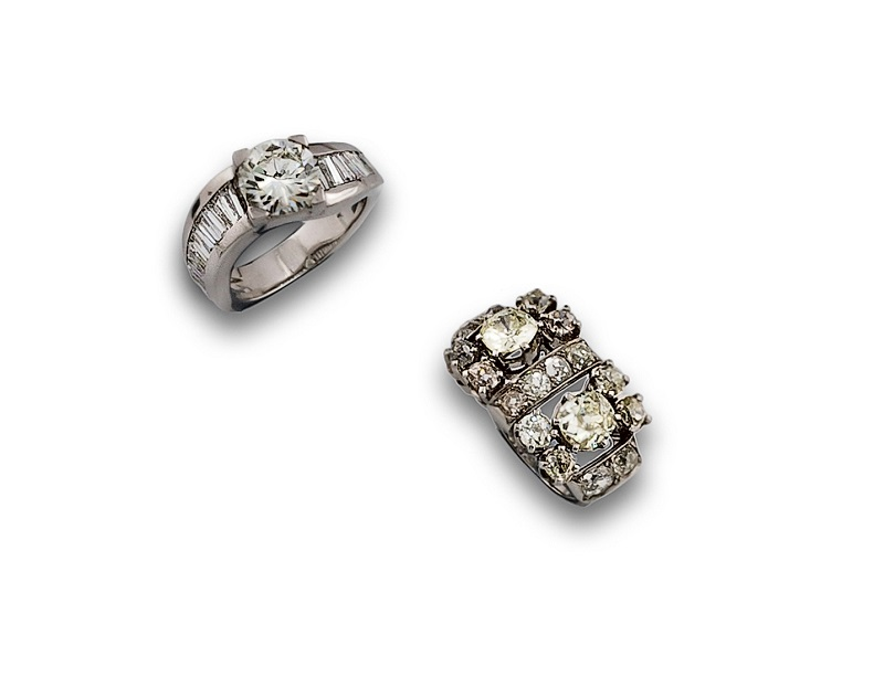Sortija circa 1850 Diamantes 265