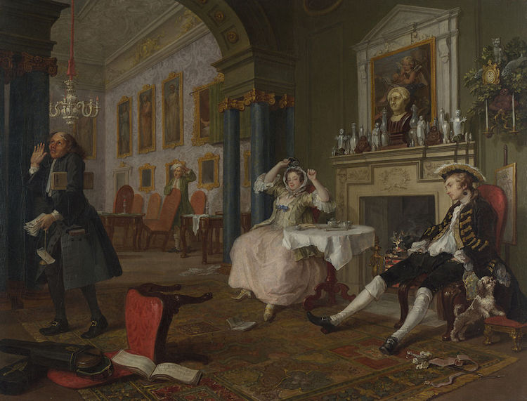 Marriage à-la-mode, William Hogarth. The National Gallery London.