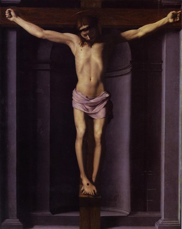 Crocifissione, 1545 circa, immagine via Wikipedia.