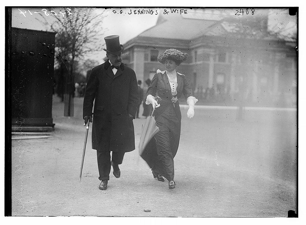 Oliver Gould Jennings und Mary Dows Brewster 1914