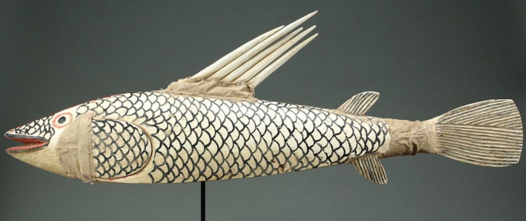 Sculpture en bois représentant un poisson (1930-1950) Bamana/Bozo, Mali Estimation: 3 000 $ - 6 000 $