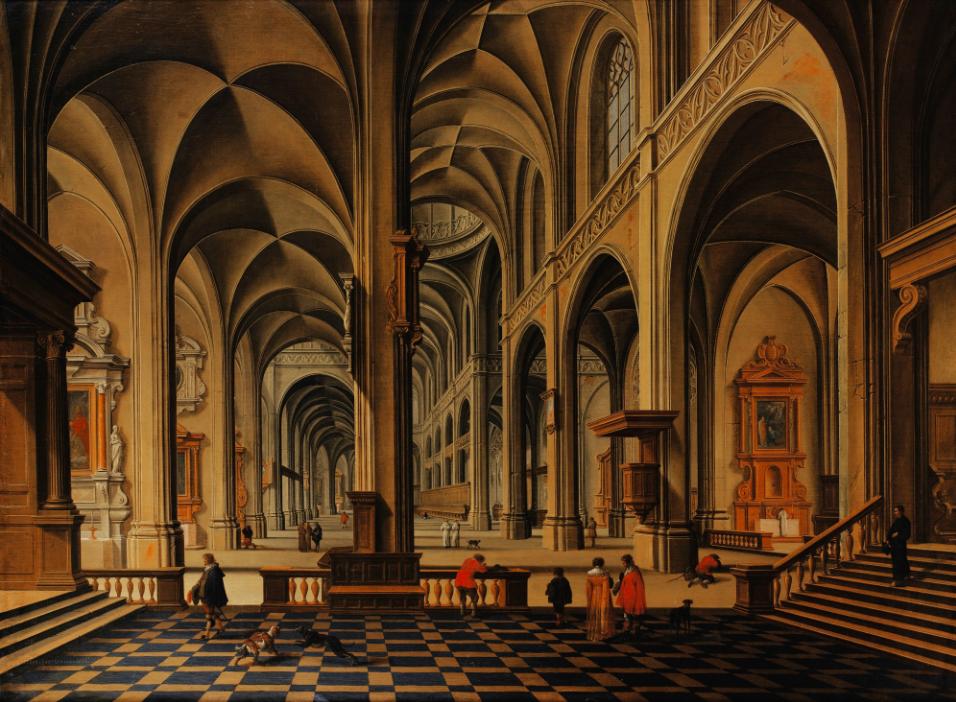 Bartholomeus van Bassen, Church Interior Scene Estimate:$54 000-86 000