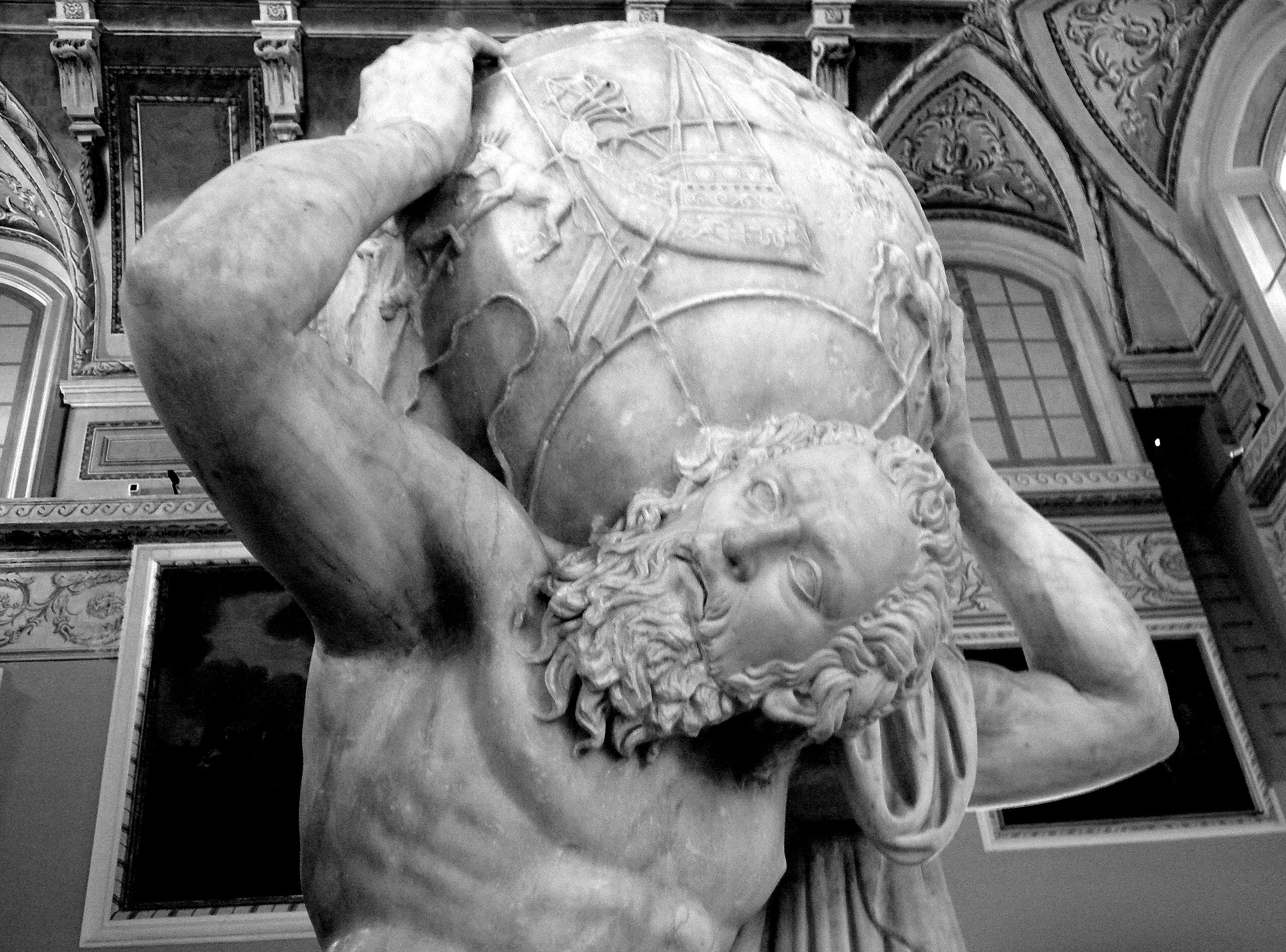 Unknown artist, 'Farnese Atlas',  2nd-century. Photo: Ilya Shurygin