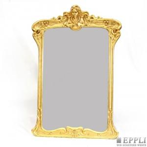 Jugendstil-Salonspiegel, vergoldetes Holz mit Stuckdekor, 183x125 cm, Frankreich, wohl Paris Anfang 20. Jh. Aufrufpreis: 2.280 EUR