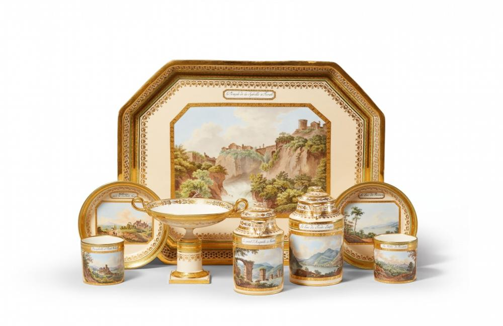 Service à déjeuner, paysages italiens, manufacture impériale de Vienne, vers 1800-01, image ©Lempertz
