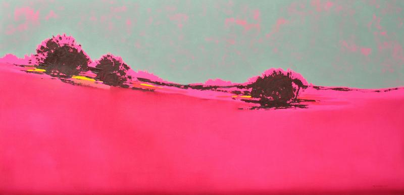Decorazon, Maria Jose Concha, Pink Sunrise, 90 x 180 cm, 52 000 SEK
