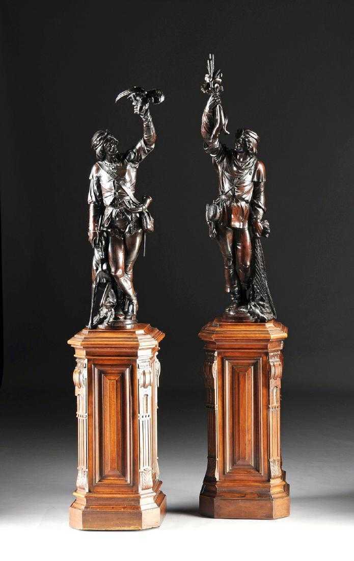 After Valentino Panciera Besarel, 'Ancient Figures'. Photo: Simpson Galleries