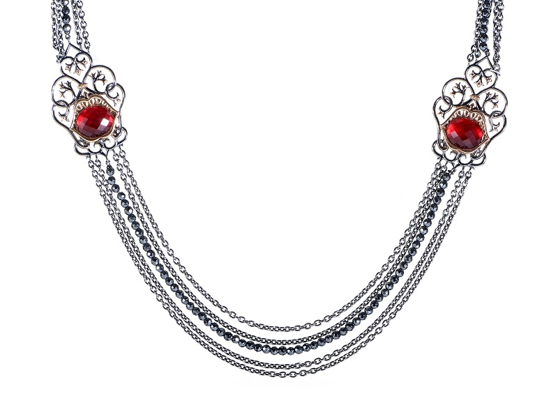 Collar de plata de STEPHEN WEBSTER y cuarzo rojo