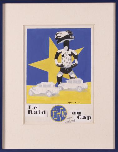 Auguste MAMBOUR. Le Raid au Cap. 1928. Librairie Lhomme