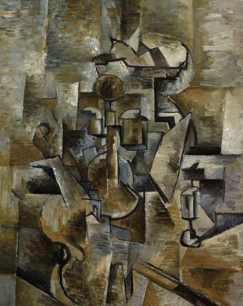 Georges Braque Violin and Candlestick, 1910