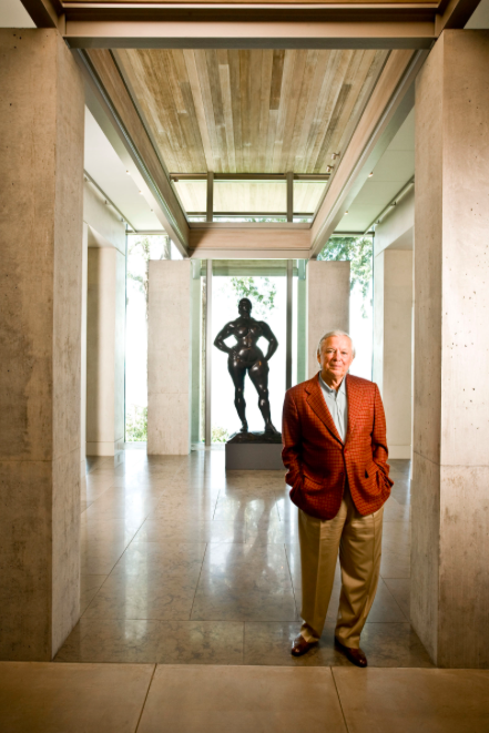 Ebsworth in his Seattle property, in front of Gaston Lachaise, 'Standing Woman', 1932. Photo: Brian Smale