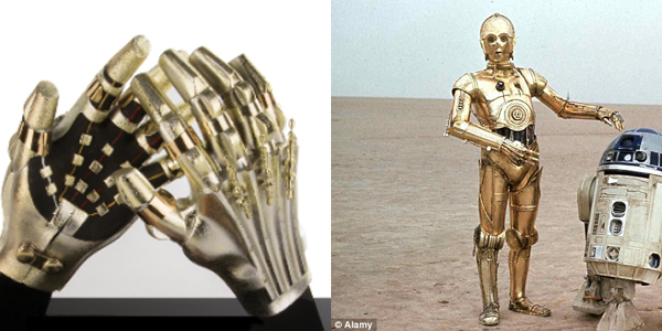C-3PO's hands from 'Star Wars: The Return of the Jedi'