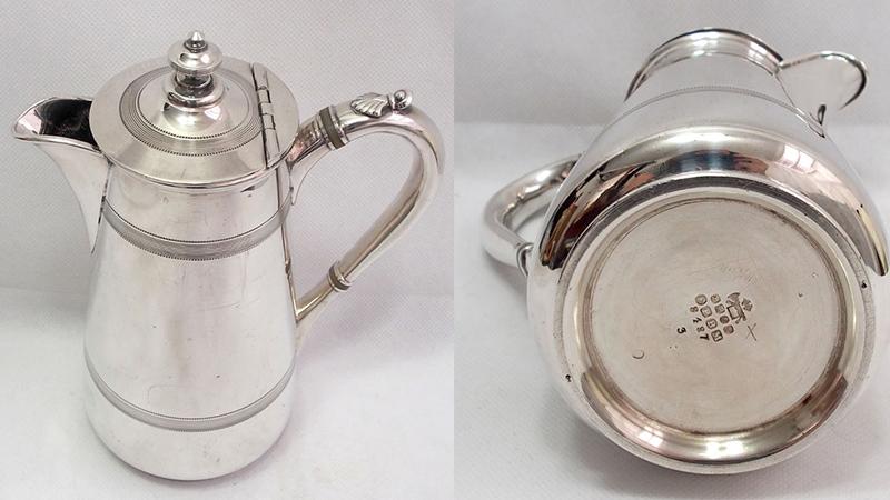James Dixon & Sons古董鍍銀咖啡壺, 約1850年